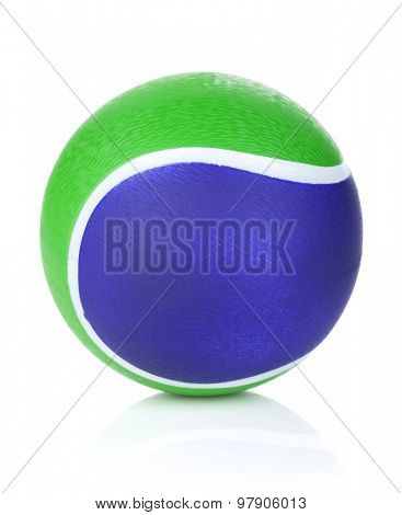 Tennis ball. Isolated on white background
