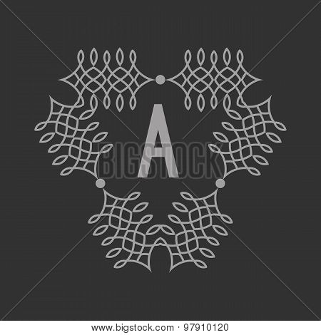 Letter A. Logo template. Abstract vector background with outline