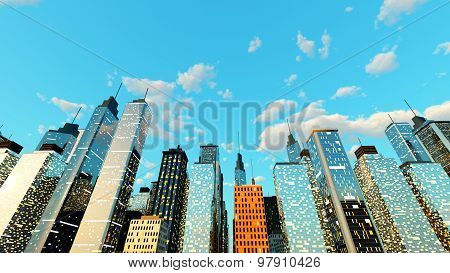Blue Sky Over The Big City