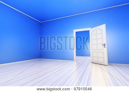 Blue Apartment.