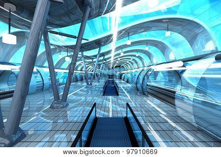 Futuristic Subway Station