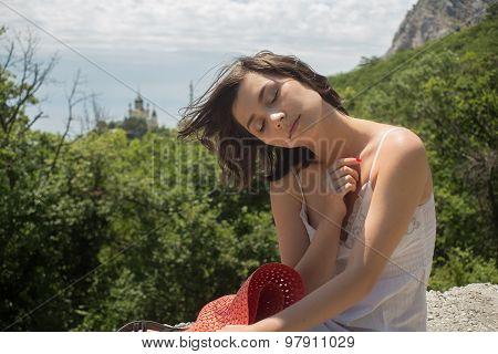 Asian lady smiling at camera