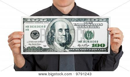Businessman Holding Money