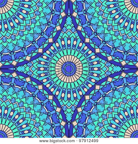 Hand Drawn Seamless Ornamental Abstract Bright Background With Many Details