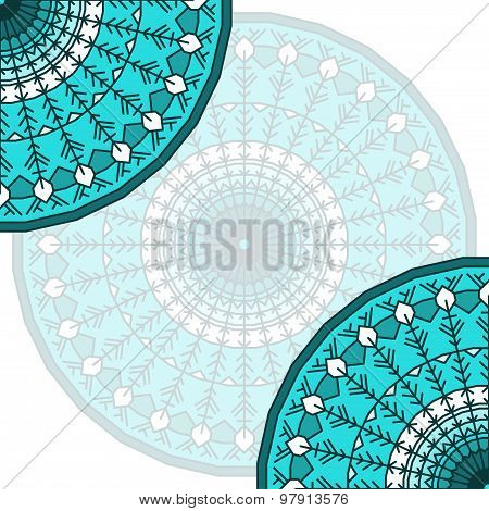 Hand Drawn Lace Ethnic Card Background.ornamental Abstract Template