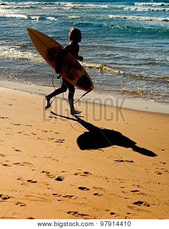 Surfer Ont He Beach