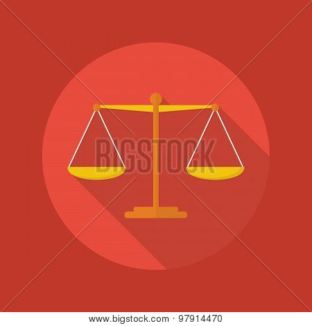 Business Flat Icon. Balance Scale