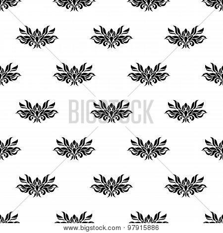 Vintage Seamless Pattern - Black And White