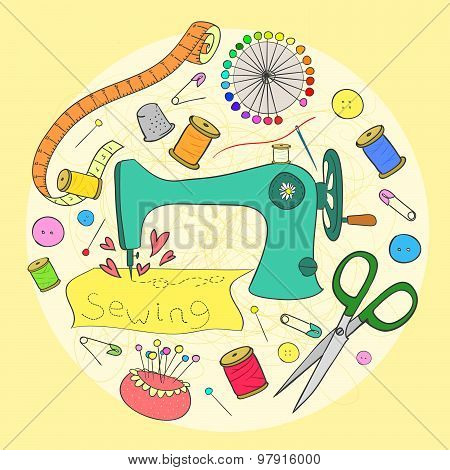 Vector Sewing And Needlework