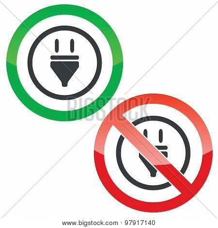 Plug permission signs
