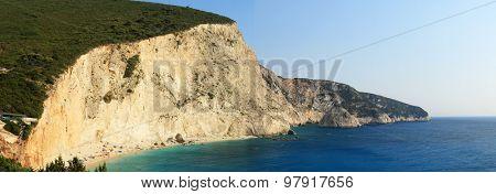 View of porto Katsiki beach, Lefkada Greece