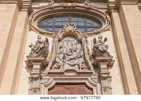Deposition Of Christ Tympanum In Milan, Italy