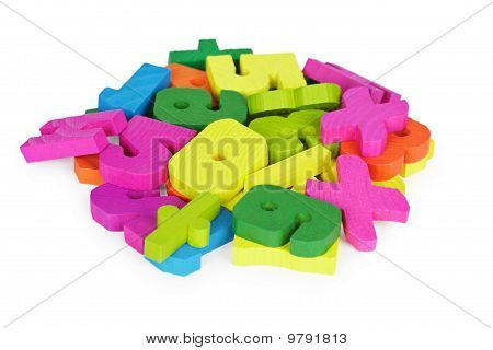Color Set Of Toys For Training To Mathematician