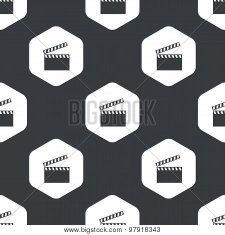 Black hexagon clapperboard pattern