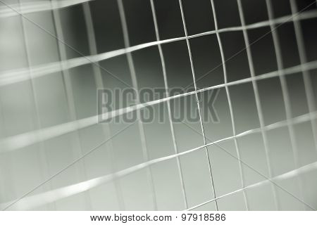 Metal net fence background