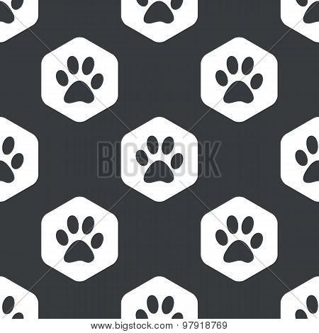 Black hexagon paw pattern