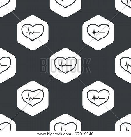 Black hexagon cardiology pattern