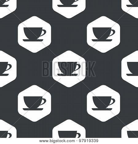 Black hexagon cup pattern