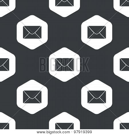 Black hexagon letter pattern