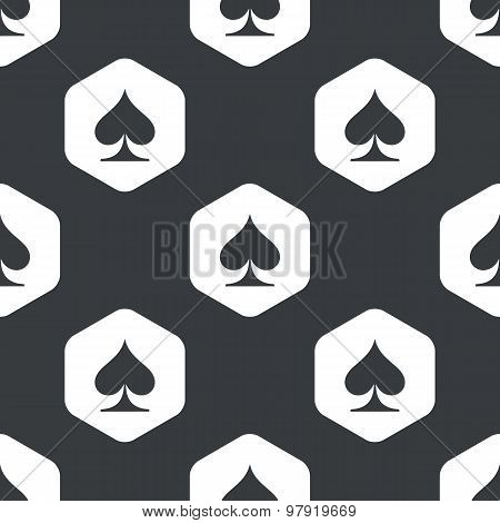 Black hexagon spades pattern