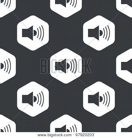 Black hexagon loudspeaker pattern