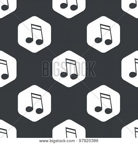 Black hexagon music pattern
