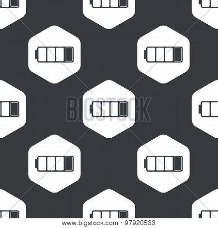 Black hexagon low battery pattern