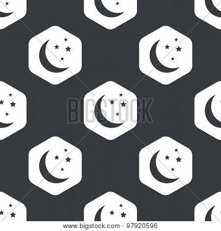 Black hexagon night pattern