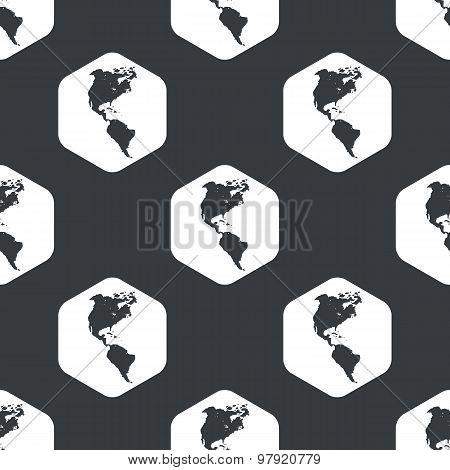Black hexagon America pattern