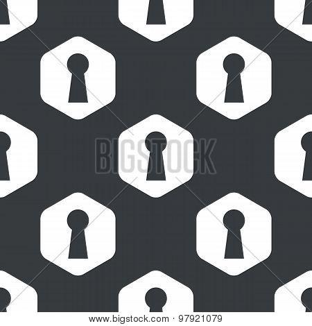 Black hexagon keyhole pattern