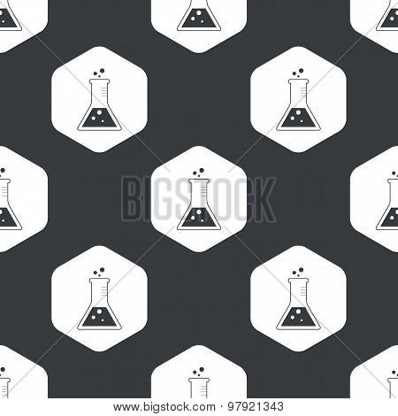 Black hexagon conical flask pattern
