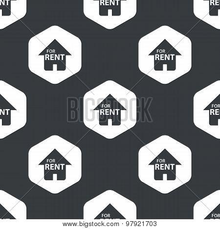 Black hexagon house rent pattern