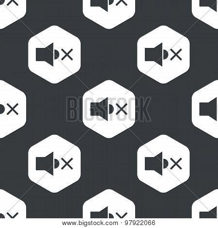 Black hexagon muted loudspeaker pattern