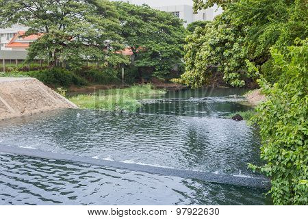 Nakhonratchasima, Thailand - June 23, 2015 : Waste Drainage On Water Treatement.