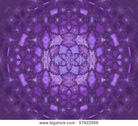 Seamless floral pattern purple