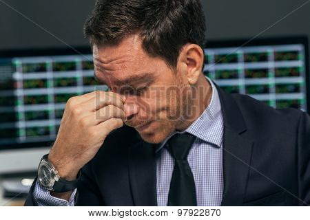 Tired Stock Market Trader