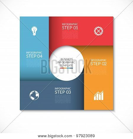 Vector square template for infographics