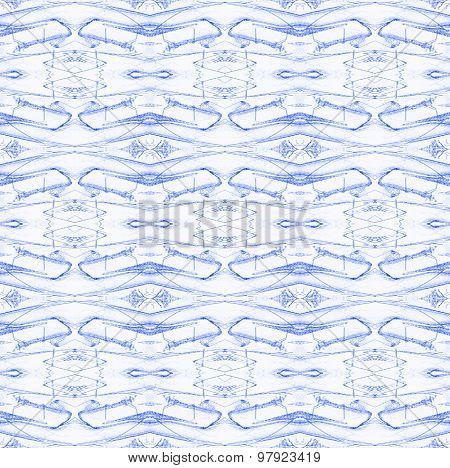 Seamless diamond pattern blue white