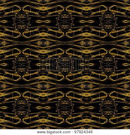 Seamless pattern golden black