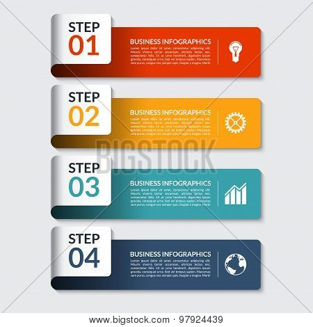 Infographic design number banners template. Can be used for business, presentation, web design