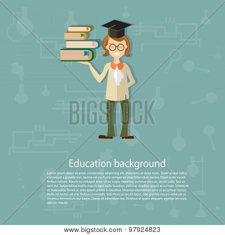 Back To School, Education Background, Teacher, Pupils, Students