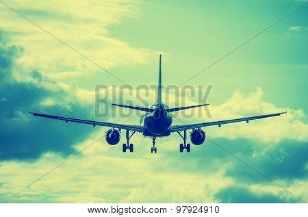 Landing Of The Passenger Plane.