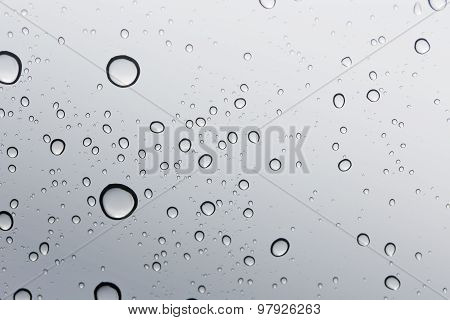 Water Drop On Glass Mirror Background : Windshield