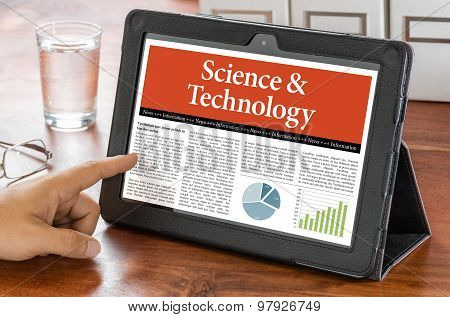 A Tablet Computer On A Desk - Science And Technology