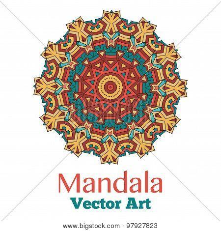 Card or invitation with mandala.