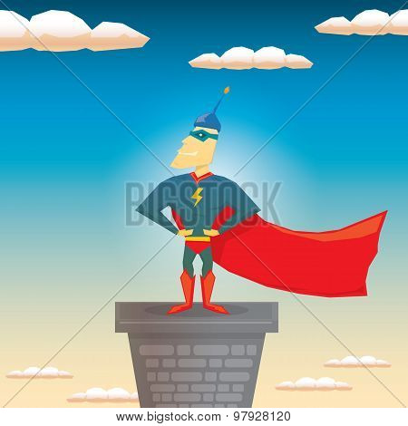 super hero. vector illustration