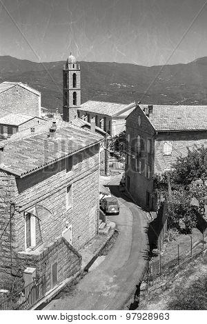Corsican Village Landscape. Petreto-bicchisano