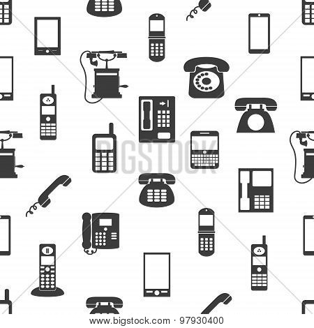 Various Phones Symbols And Icons Seamless Pattern Eps10