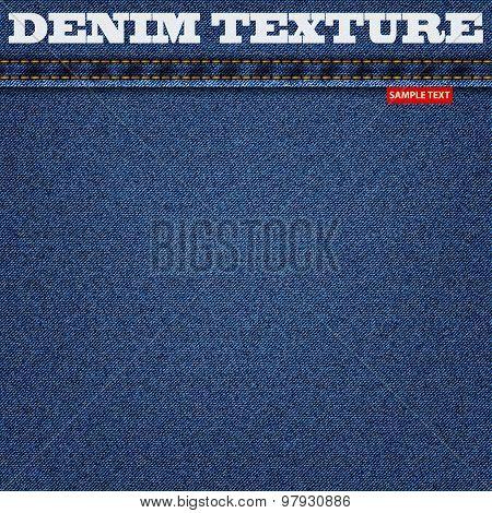 jeans blue texture denim background. vector illustration eps10