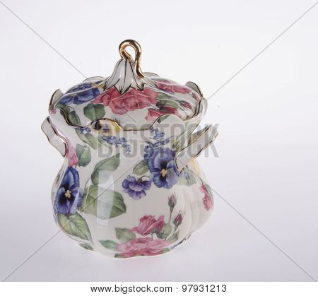 Ceramics Jar On Background